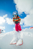 Girl on skis. Stock Images