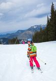 Girl on skis. Stock Photography