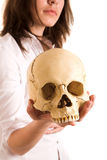 Girl with skull Royalty Free Stock Photos