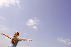 Girl in the sky Royalty Free Stock Images