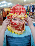 Girl of Slavic appearance wearing a headscarf Arab Royalty Free Stock Photos