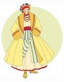 Girl  Slavic. Young girl in ethnic Slavic clothing Stock Image