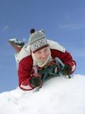 Girl on sled Royalty Free Stock Image
