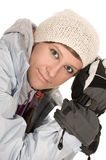 Girl on sledge Stock Photography