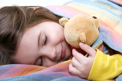Girl is sleeping Stock Photos