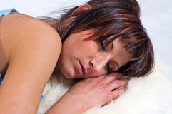 Girl sleeping Stock Images