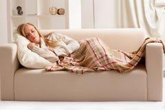 Girl sleeping royalty free stock photo