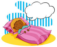 Girl sleeping in the bed Royalty Free Stock Images