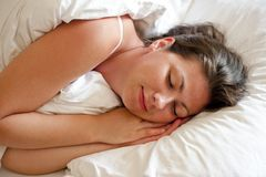 Girl is sleeping Royalty Free Stock Image