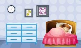 A girl sleeping Royalty Free Stock Image