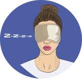 Girl in sleeping mask Stock Photography