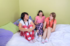 Girl sleepover Stock Image