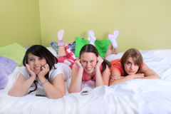 Girl sleepover Royalty Free Stock Image