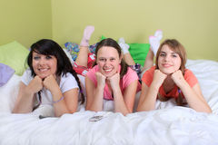 Girl sleepover Royalty Free Stock Photos