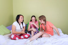 Girl sleepover Royalty Free Stock Photography