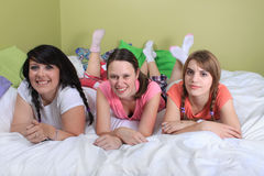 Girl sleepover Stock Photos