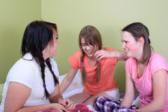 Girl sleepover Stock Photo