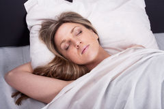 Girl sleeps Royalty Free Stock Photos