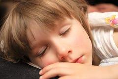 The girl sleeps Stock Images