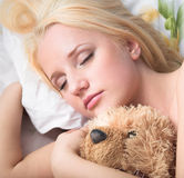 The girl sleeps Stock Photography