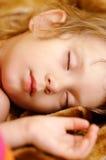 girl sleeps small Στοκ Φωτογραφίες