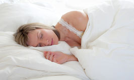 Girl sleeps Stock Image