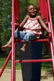 A Girl On A Slide Royalty Free Stock Photos
