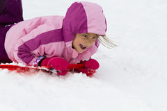 Girl sliding Royalty Free Stock Photos