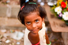 Girl from slums. This picture is clicked in mumbai slums Stock Images