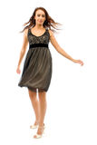 The girl in a small black dress Royalty Free Stock Photo