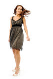 The girl in a small black dress Royalty Free Stock Photos