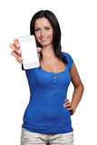 Girl with smart phone Stock Images