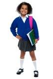 Girl in smart uniform Stock Photos