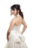 A girl in a smart white dress Royalty Free Stock Photos