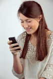 Girl smartphone Royalty Free Stock Photos