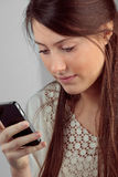 Girl smartphone Stock Photography