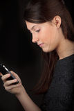 Girl smartphone Royalty Free Stock Photo