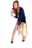 Girl smelling rose. Royalty Free Stock Photos