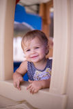 Girl smile happy playhouse Royalty Free Stock Photo