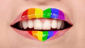 Girl Smile - Lgbtq Concept royalty free stock image