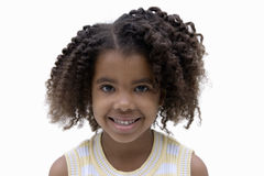 Girl smiling, front view, portrait, cut out Royalty Free Stock Photos