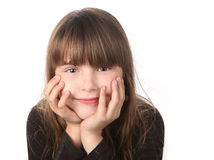 Girl Smiling Gently Looking at the Viewer Royalty Free Stock Image