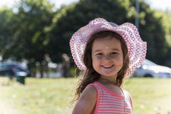 Girl smiling. Little girl with a lovely smile on her face Royalty Free Stock Photo