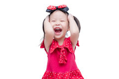 Girl smiling over white background Royalty Free Stock Photo