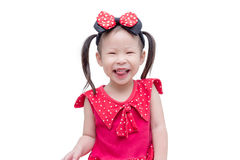 Girl smiling over white background Royalty Free Stock Photography