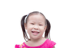 Girl smiling over white Royalty Free Stock Photo