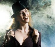 girl smoke Στοκ Εικόνες