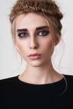 Girl with smoky eyes Stock Image