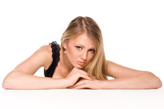 Girl with smooth by skin Royalty Free Stock Photo