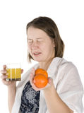 Girl sneezes Stock Photography